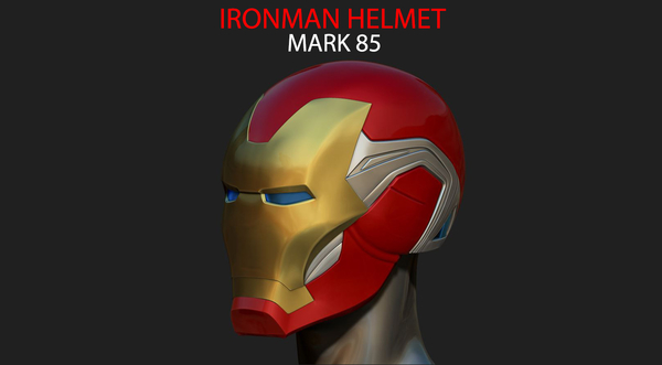Medium IRONMAN HELMET - MARK 85 version - from Infinity war - End game 3D Printing 240062
