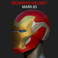 Small IRONMAN HELMET - MARK 85 version - from Infinity war - End game 3D Printing 240062