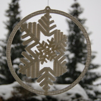 Small Gyroscopic Snowflake 3D Printing 24016