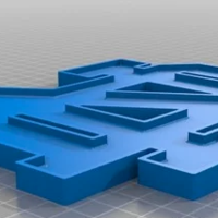 Small ND Logo Plate 3D Printing 240248