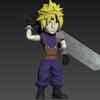 Small Cloud- Final Fantasy 7 3D Printing 240256