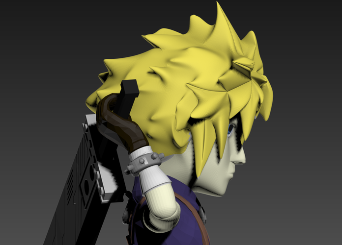 Cloud- Final Fantasy 7 3D Print 240257