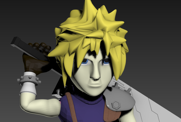 Cloud- Final Fantasy 7 3D Print 240258