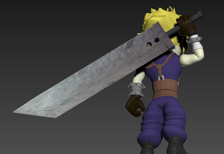 Cloud- Final Fantasy 7 3D Print 240259