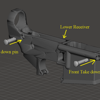 Small AR-15 LOWER REICEIVER 3D Printing 240340