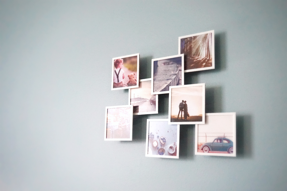 3D Printed Square Floating Photo Frame by WallTosh | Pinshape