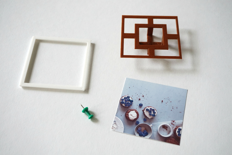 Square Floating Photo Frame 3D Print 24041
