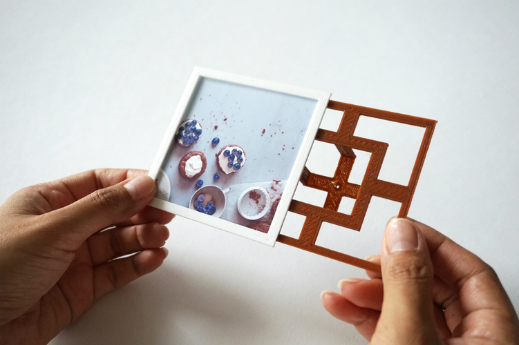 Square Floating Photo Frame 3D Print 24043