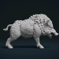 Small Wild Boar in static pose 3D Printing 240501