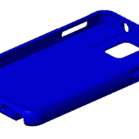 Small Note 3 rounded edge case 3D Printing 24063