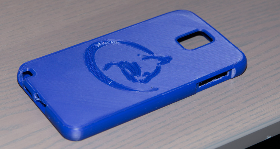 Note 3 rounded edge case 3D Print 24064