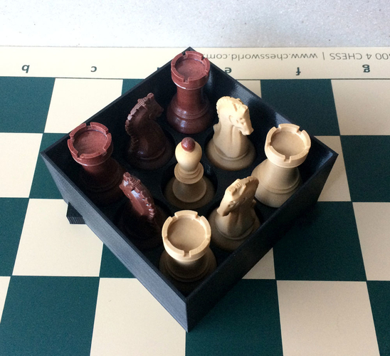 Chess set storage and transport cases 3D Print 240673