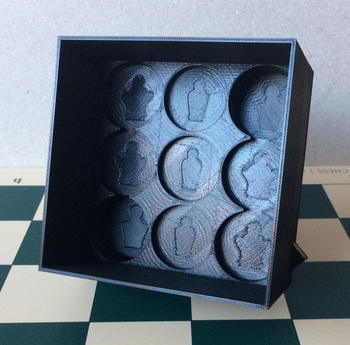 Chess set storage and transport cases 3D Print 240676