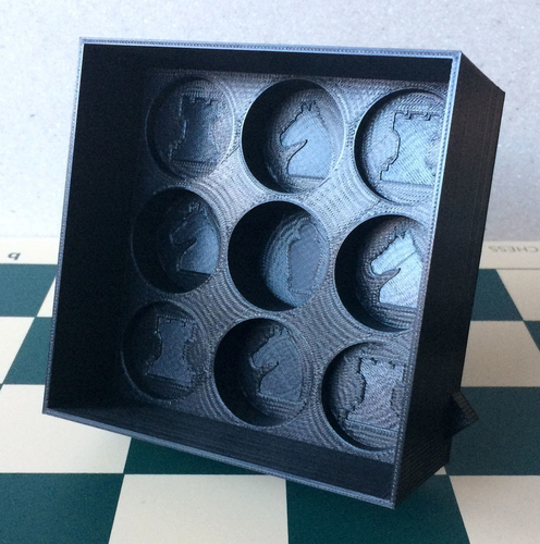 Chess set storage and transport cases 3D Print 240677