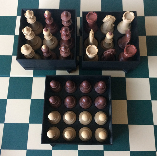 Chess set storage and transport cases 3D Print 240678