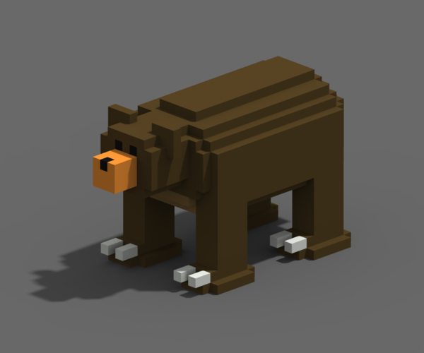 Voxel Animals 3D Print 240692