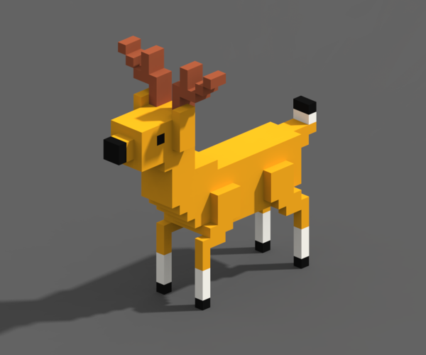 Voxel Animals 3D Print 240698