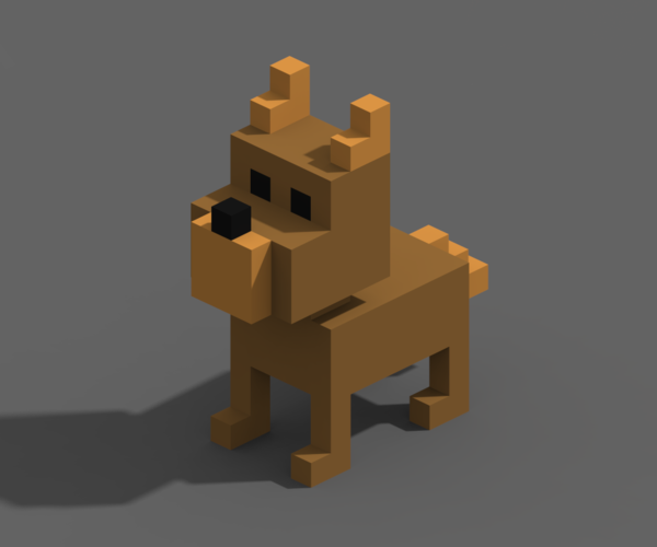 Voxel Animals 3D Print 240699