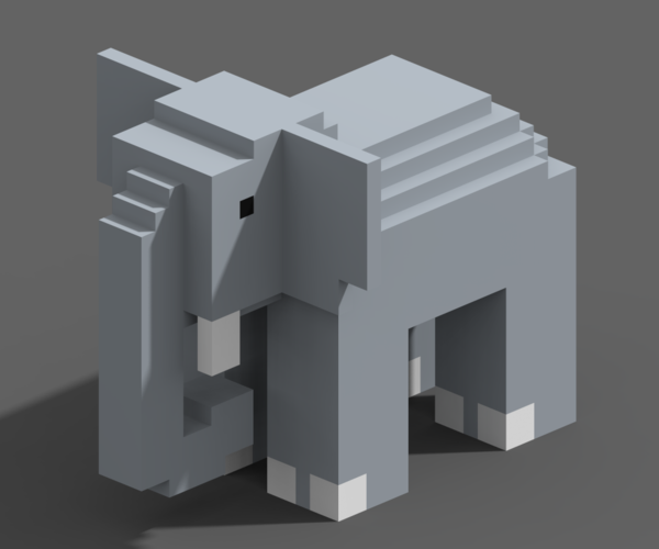 Voxel Animals 3D Print 240700