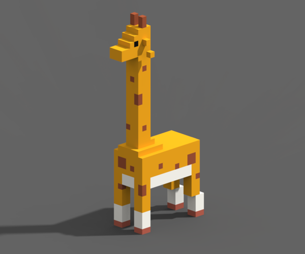 Voxel Animals 3D Print 240702
