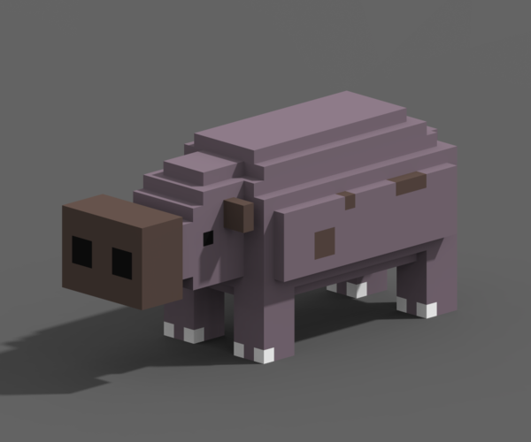 Voxel Animals 3D Print 240703