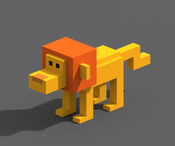Voxel Animals 3D Print 240704