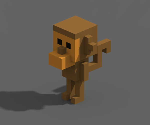 Voxel Animals 3D Print 240705