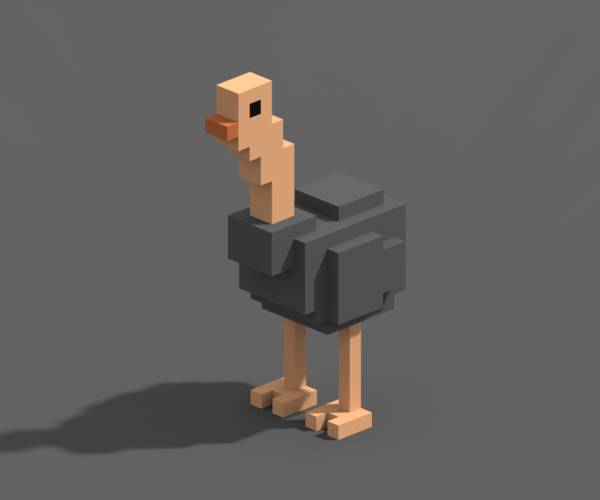 Voxel Animals 3D Print 240706
