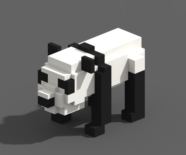 Voxel Animals 3D Print 240707