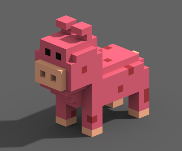 Voxel Animals 3D Print 240709