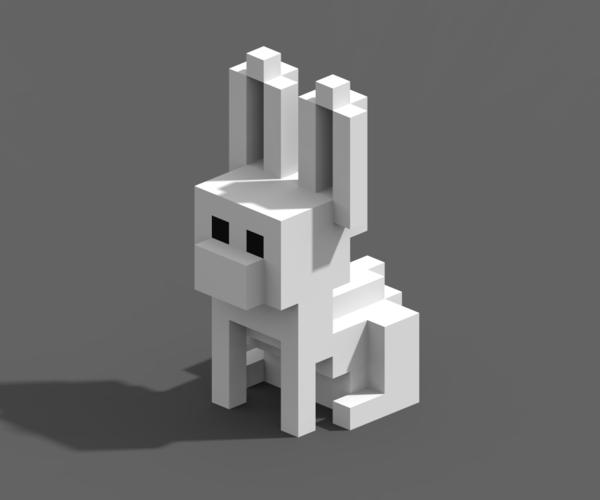 Voxel Animals 3D Print 240710