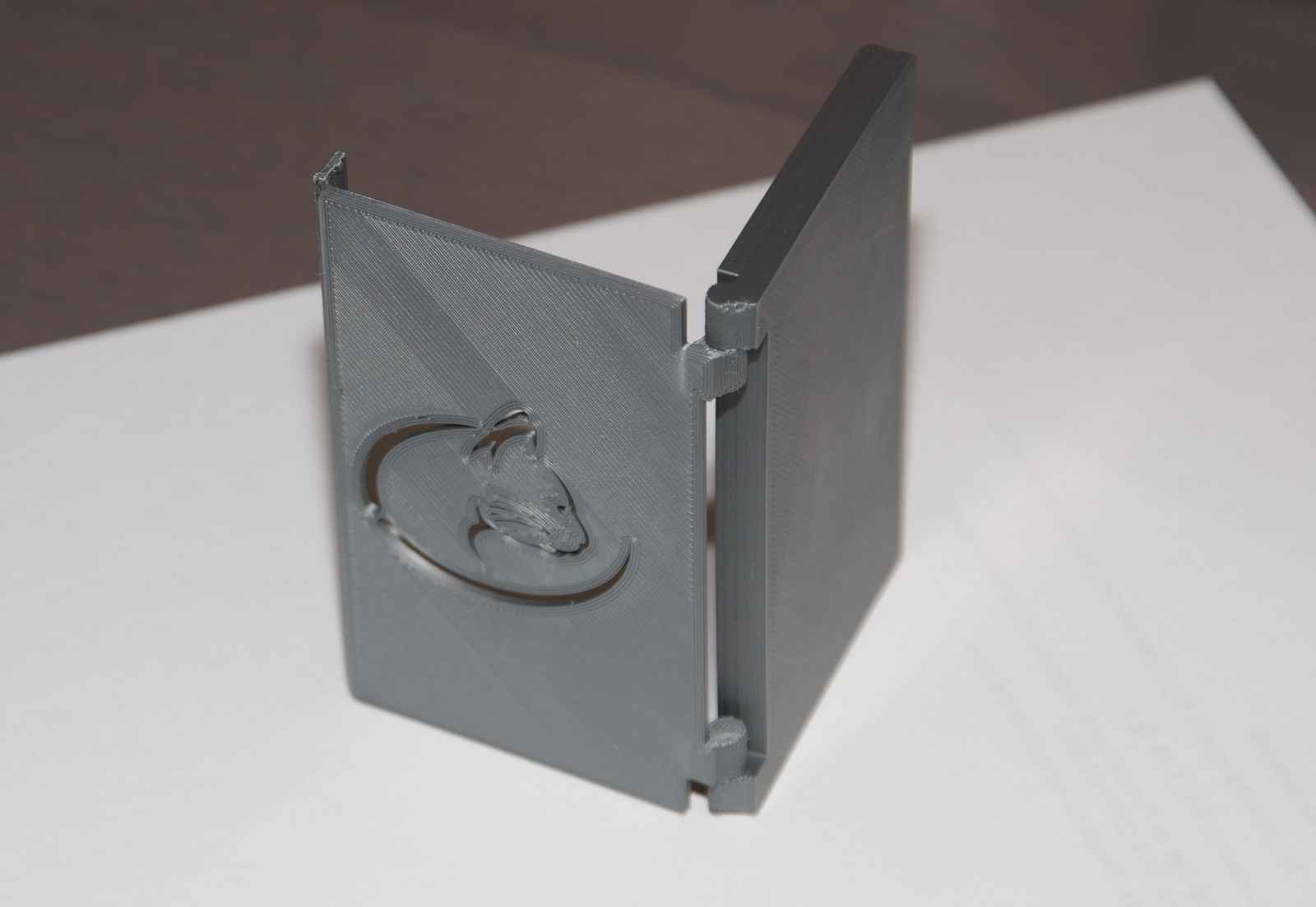 3D Printed Folding Business card holder by dorian_ferrari | Pinshape
