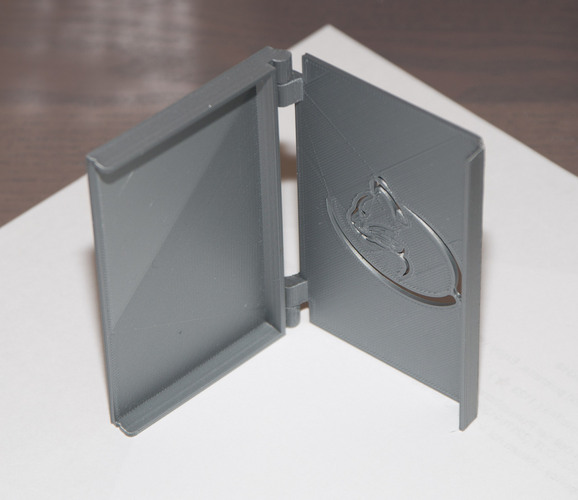 Folding Business card holder 3D Print 24086