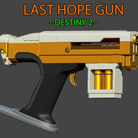 Small LAST HOPE Gun from Destiny 2  3D Printing 240881