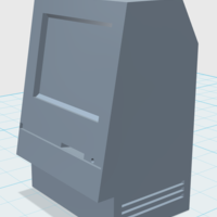 Small Classic Apple Mac Computer 3D Printing 24094