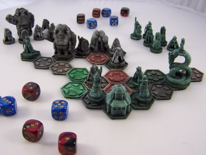 Pocket-Tactics Elves of the Shining Host 3D Print 2410