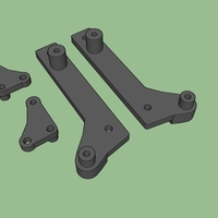 Small Carisma Scale Adventures Cantilever Rear Suspension parts 3D Printing 241002