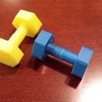 Small Dumbbell game tokens 3D Printing 24109