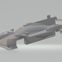 Small The Porsche 919 Hybrid is a Le Mans Prototype 1 (LMP1) 3D Printing 241101