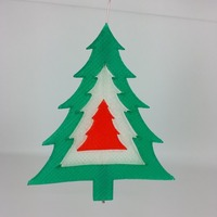 Small Christmas Tree Ornament 3D Printing 24111
