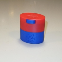 Small Herb container with valve cup opening - mini 3D Printing 241113