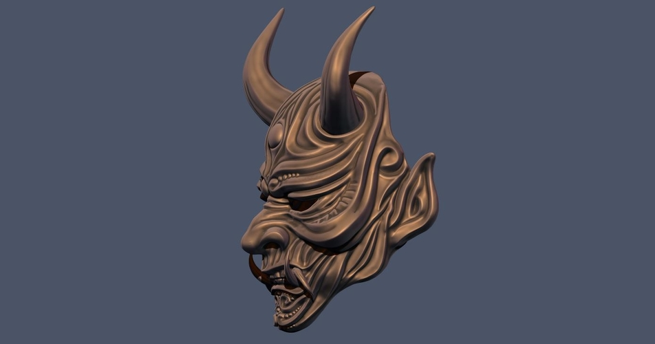 Devil Mask-Hannya Mask-Samurai Mask-Satan mask for cosplay 3D Print 241121