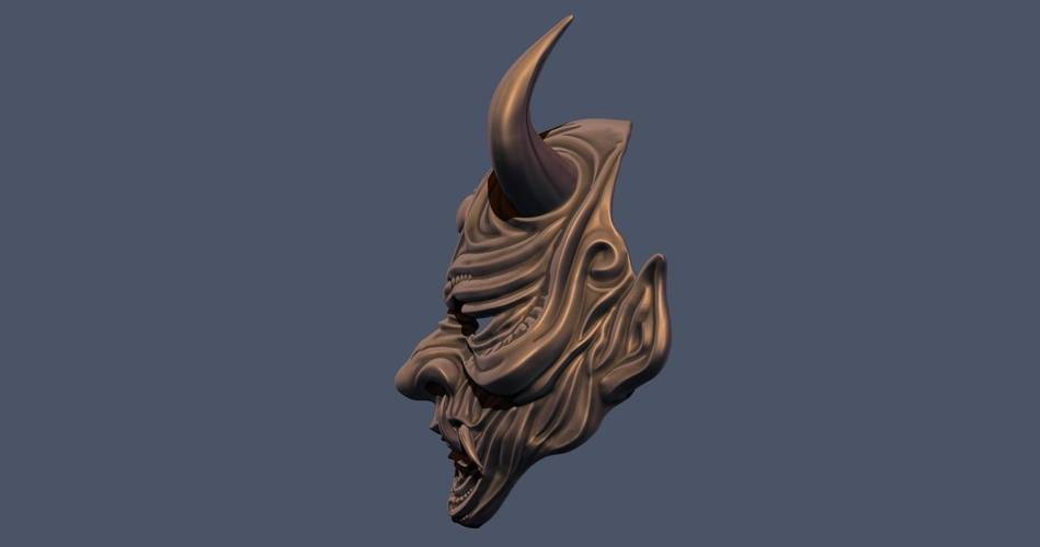 Devil Mask-Hannya Mask-Samurai Mask-Satan mask for cosplay 3D Print 241122
