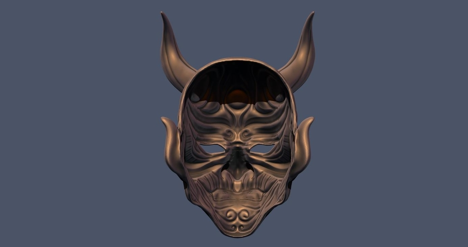 Devil Mask-Hannya Mask-Samurai Mask-Satan mask for cosplay 3D Print 241124