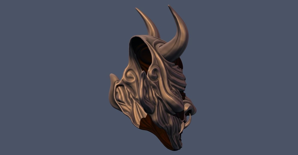 Devil Mask-Hannya Mask-Samurai Mask-Satan mask for cosplay 3D Print 241125