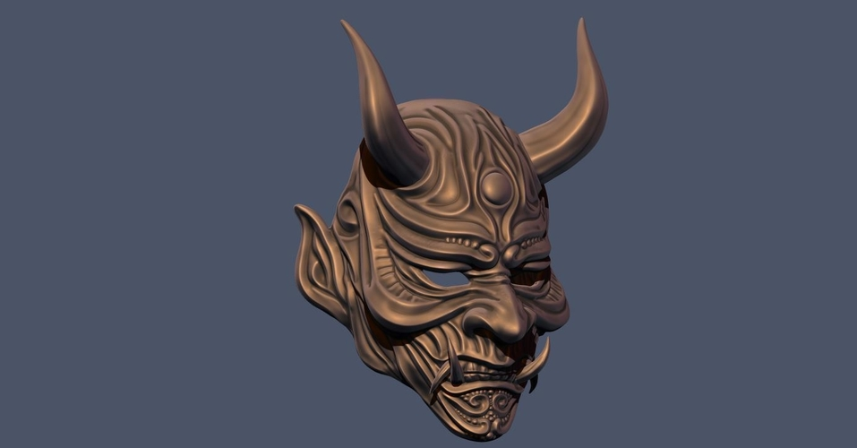 Devil Mask-Hannya Mask-Samurai Mask-Satan mask for cosplay 3D Print 241126
