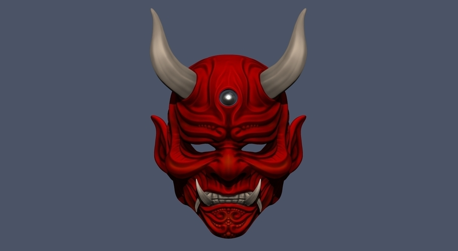 Devil Mask-Hannya Mask-Samurai Mask-Satan mask for cosplay 3D Print 241128