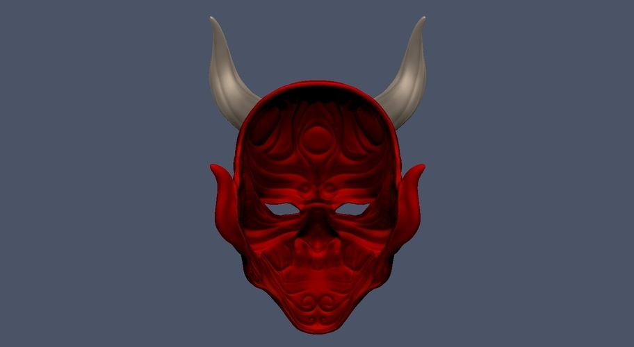 Devil Mask-Hannya Mask-Samurai Mask-Satan mask for cosplay 3D Print 241130