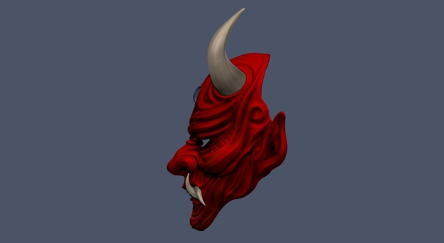 Devil Mask-Hannya Mask-Samurai Mask-Satan mask for cosplay 3D Print 241131