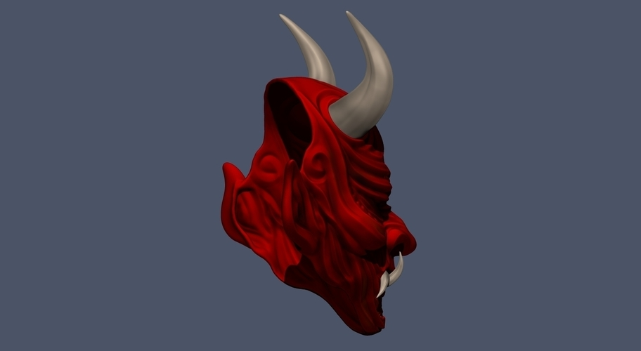 Devil Mask-Hannya Mask-Samurai Mask-Satan mask for cosplay 3D Print 241132